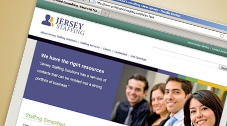 Web Design for Jersey Staffing, New Jersey