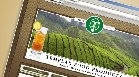 Web Design for Templar Food Products, New Jersey
